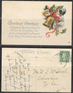 Christmas Greetings postcard, 906