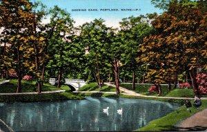 Maine Portland Deering Oaks 1945