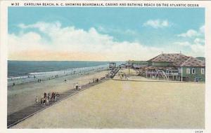 Boardwalk, Casino and Bathing Beach on the Atlantic Ocean, Carolina Beach, No...