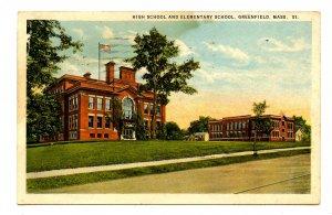 MA - Greenfield. High School & Elementary School