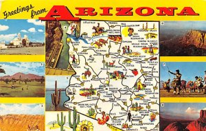 Maps Arizona USA Postal Used Unknown