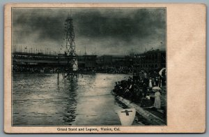 Postcard Venice CA c1904 Grand Stand And Lagoon Diving Tower