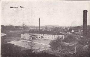AYLMER, Ontario, Canada, PU-1906; Two-Story Building, Swimming Pool