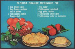 Florida Orange Meringue Pie Postcard