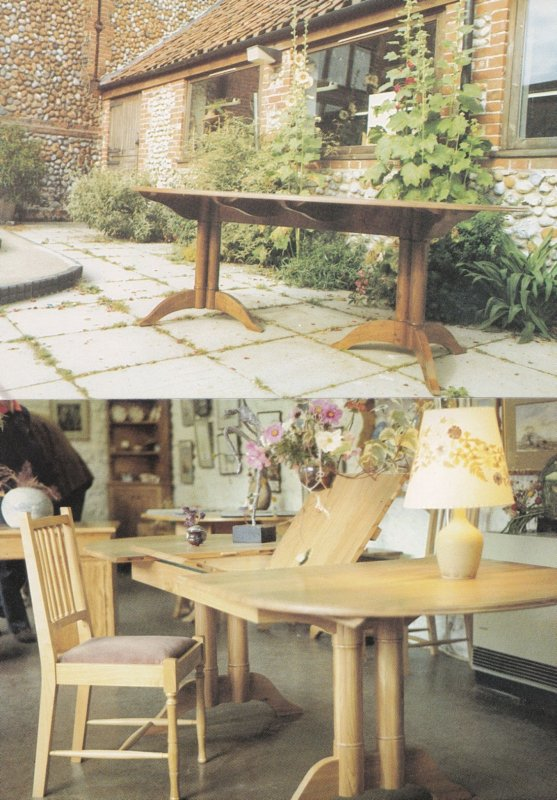 Hand Crafted Oak Table Alby Crafts Norwich 2x Advertising Postcard s
