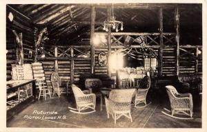 Pictou Lodge Nova Scotia Rotunda Interior Real Photo Antique Postcard K85286