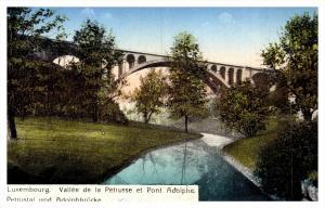 Luxembourg  Vallee de la Petrusse et Pont Adolpe