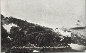 Simonstown South Africa Admiralty House and Secretary's Cottage Postcard F71