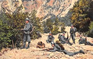 Gruss aus dem Grenzgebiete Kaiserschuetzen Feldwache, Military Soldiers Uniforms