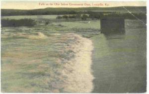 Falls on the Ohio Below Government Dam, Louisville, Kentucky, PU-1909