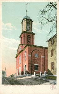 Portsmouth New Hampshire~Detroit Publishing #6570 St Johns Church~1902