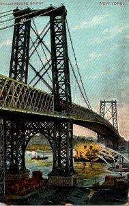New York City Williamsburg Bridge 1908