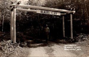 Wisconsin Hazelhurst Black's Cliff Resort The Entrance Real Photo