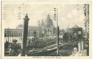 Italy, Venezia, Venice, Chiesa deila Salute, 1930 used
