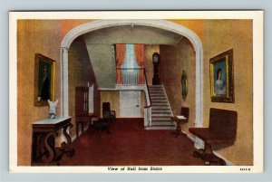 Bardstown, KY-Kentucky, My Old Kentucky Home, Hall From Stairs, Vintage Postcard