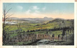 Warwick Valley from Mt Peter Greenwood Lake, New York Postcard