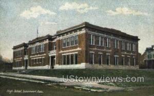 High School Leavenworth KS Writing On Back