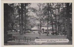 Ohio Marysville Legion Memorial Park Looking Toward Shelter House  Dexter Pre...