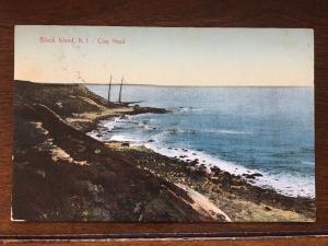 View of Ship Wreck, Clay Head, Block Island, Rhode Island RI D10