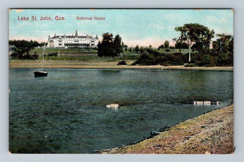 Quebec-Canada, Scenic Greeting, Lake St. John, Vintage Postcard