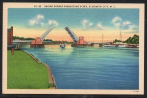North Carolina colour Bridge Pasquotank River Elizabeth City, N.C unused