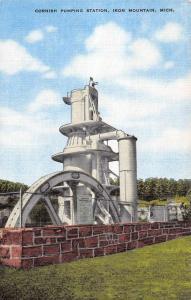 Iron Mountain Michigan Cornish Pumping Station Antique Postcard K102073