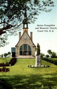 Canada - Nova Scotia, Grand Pre. Memorial Church, Evangeline Statue