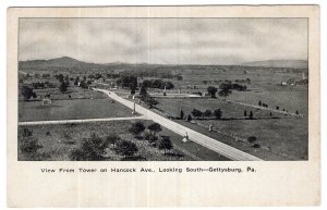 Gettysburg, Pa., View From Tower on Hancock Ave., Looking South
