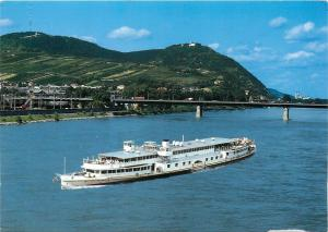 Austria Vienna pleasure cruise ship postcard