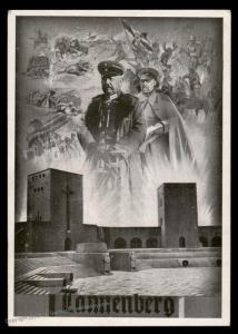 3rd Reich Germany Hindenburg Tannenburg Patriotic Card 91324