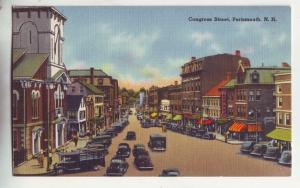 P963 vintage many old cars etc congress street porthmouth new hampshire