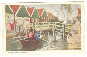 Man & Girls On A Boat, Bootje Varen, Volendam (North Holland), Netherlands, 1...
