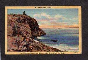 ME Acadia National Park Mt Desert Island Great Head Bar Harbor Maine Postcard