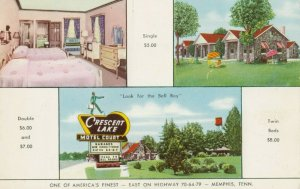 MEMPHIS, Tennessee, 1950-60s ; Crescent Lake Motel Court