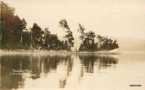 C-1910 Jewet's Point Lake Mempremagog RPPC Real photo postcard 7370