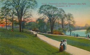 Promenade along River -Genesee Valley Park - Rochester, New York - DB