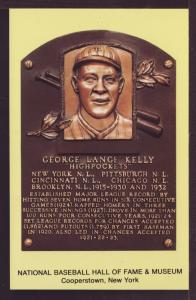 George Lange Kelly Baseball Hall of Fame Post Card 3230