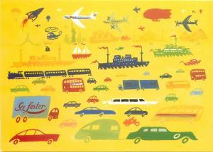 Go faster by Matthew Morgan postcard