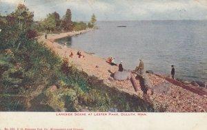 DULUTH , Minnesota, 1907 ; Lakeside Scene at Lester Park