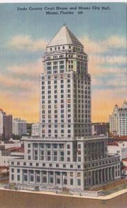 Florida Miami Dade County Court HOuse and City Hall 1960