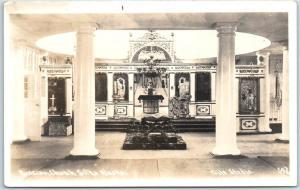 Sitka, Alaska RPPC Photo Postcard Russian Church Interior - Elite Studio 1930s