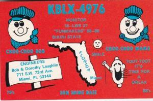 Florida Miami KBLX-4976 Bob & Dorothy Laughlin 1983