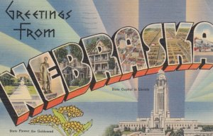 Large Letter Greetings NEBRASKA , 1948