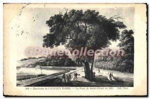 Old Postcard surroundings Old Paris Le Parc de Saint Cloud in 1805