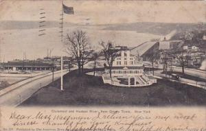 New York City Hudson River Claremont And Hudson River From Grants Tomb 1905