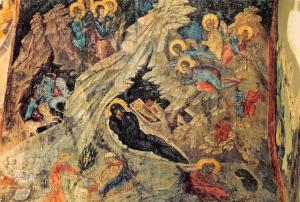 Mistra Mystra Church of Perivlepton, The Nativity, Kirche Natale