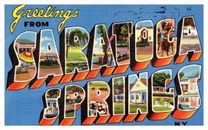 New York  Saratoga Springs, LARGE LETTER
