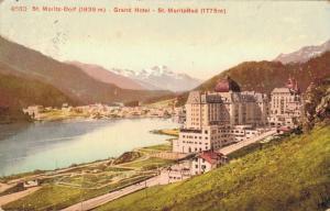 Switzerland St Moritz Dorf Grand Hotel St Moritz Bad 02.99