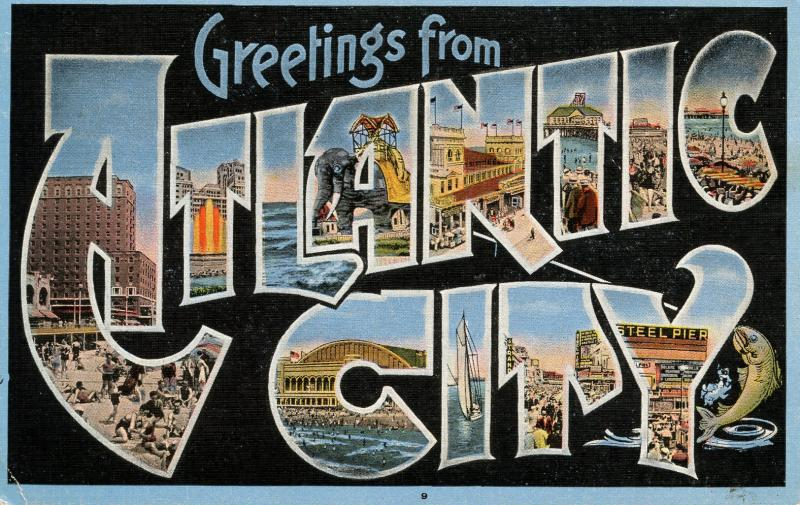 Large Letter - Atlantic City, New Jersey