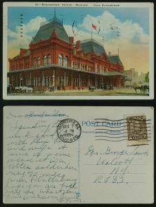 Gare Bonaventure Station Montreal Railroad pmkd 1931
